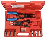 KS Tools 500.1350 Pack alicates para Anillos de retención Seeger, con función de carraca, 20pcs, Set de 20 Piezas