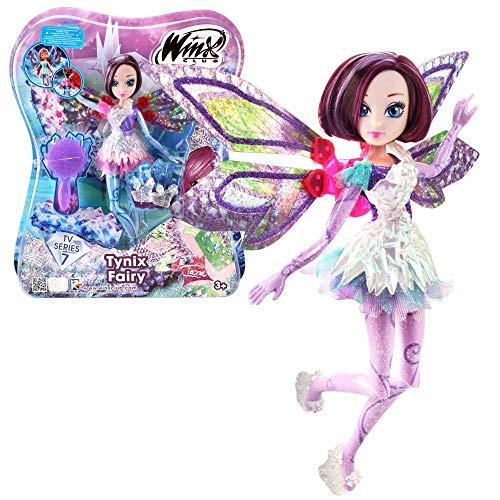 Winx Club Tecna | Tynix Fairy Poupée Magique Robe | Saison Télé 7 | 28 cm
