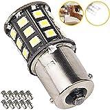 Super Bright 1156 1141 - Bombilla LED para luces de interior de coche (10 unidades, luz blanca)