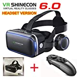 VR SHINECON-Virtual Reality VR Headset 3D Glasses Headset Helmets VR Goggles for TV, Movies & Video Games Compatible...
