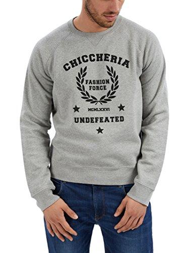 Chiccheria Brand Sweatshirt – Fashion Force – Herren | Grau | Designed in California | 100{b046333896ac2c80d99606cf3836580cfa854a9aae440e12753acd64d4716937} Baumwolle | Bekannt aus GQ (M)