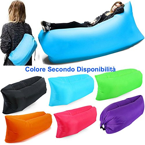DOBO® air bag lettino gonfiabile hangout air sacco a pelo a sedia materassino spiaggia mare banana sleeping bag colore casuale