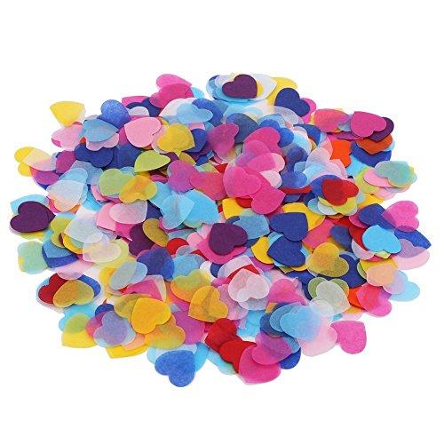 DECORA 1 Inch Multicolor Hearts Paper Confetti for Wedding St. Valentine's Day Decorations