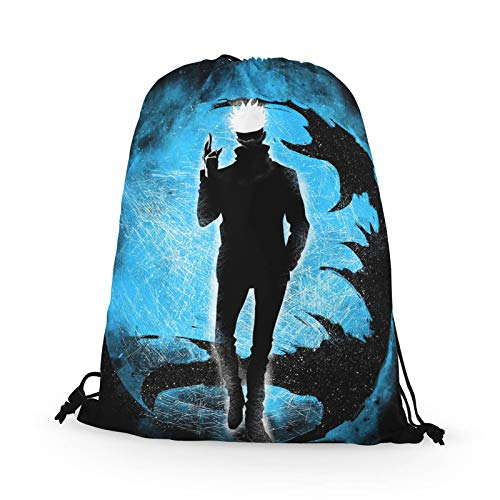 Ailin Online Jujutsu Kaisen Drawstring Backpack,Lightweight and Covinent,Travel Gym Sport Bag for Students and Sport Lover(Style 01)
