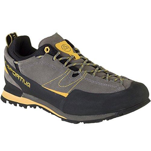 La Sportiva Boulder X Hiking Shoe - Men's, Grey/Yellow, 45.5