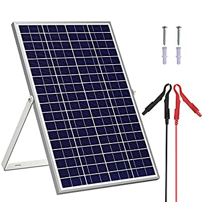 SOLPERK 30W/24V Solar Panel?Solar trickle Charger?Solar Battery Charger and Maintainer? Suitable for Automotive, Motorcycle, Boat, ATV,Marine, RV, etc. (30W/24V Solar Panel)