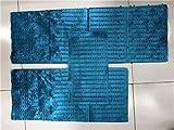 PENVEAT Silver Grey ASO Oke Hihg - Juego de 3 Piezas de Tocado Africano con Cuentas para Fiestas, Color Gris Azul Claro