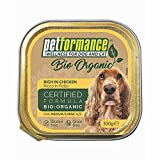 Alimento Umido per Cani Adulti Medio-Grandi - Biologico, Senza Glutine e Senza Cereali, Ideale in Caso di Intolleranze - 9 Vaschette da 300 gr, Pollo
