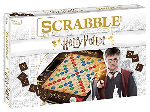 Scrabble World of Harry Potter Board Game | Official Scrabble Game Featuring Wizarding World Twist | Custom Harry Potter Game of Scrabble | Scrabble Tiles & Scrabble Board | Scrabble Word Game