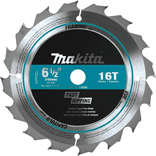 Makita T-01395 16T Carbide-Tipped Saw Blade, General Contractor, 6-1/2'