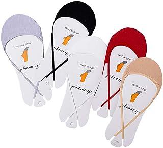 FENICAL, 5 pares de mujeres de corte bajo antideslizante corta boca corta calcetines invisibles para tacón alto (gris + blanco + negro + rojo + color de piel)