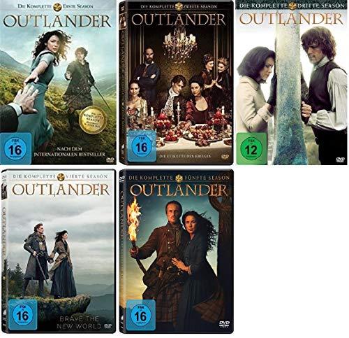 Outlander Staffel 1-5 (1+2+3+4+5, 1 bis 5) [DVD Set]