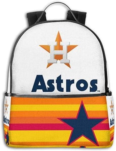 Houston Astros School Laptop Backpack For Women Men