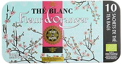 Terre d'Oc Boîte Nomade 10 Sachets Thé de l'Hospitalité Blanc Fleur d'Oranger Bio