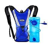 SKL Trinkrucksack mit 2L Trinkblase Hydration Pack Trinkbeutel 2L Radfahren Wandern Klettern