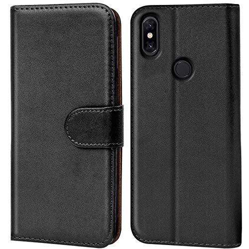 Verco kompatibel mit Mi A2 Lite Hülle, Handyhülle für Xiaomi Mi A2 Lite Tasche PU Leder Booklet Flip Hülle - Schwarz