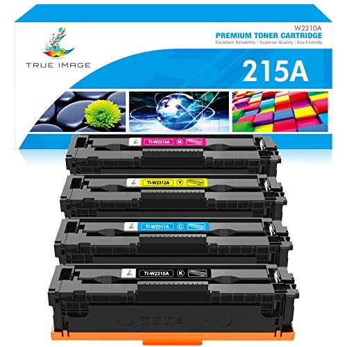 True Image Compatible Toner Replacement for HP 215A HP Color Laserjet Pro MFP M182nw M183fw M155 W2310A W2311A W2312A W2313A Series Toner (Black Cyan Yellow Magenta, 4-Pack)