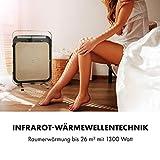 Klarstein HeatPal Marble Blackline Infrarot-Heizung mit Thermostat - mobiles Heizgerät, Standheizgerät, 1300 Watt, Räume bis 30 m², Wärmespeicherfunktion, Marmorplatte, kupferfarben - 6