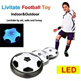 ANAGFEOL Jouet LED Air Power Training Ball Soccer Football Goal Set Hover Ball with 2...