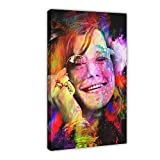 Janis Joplin in Farbe Sänger Musik Pop Leinwand Poster