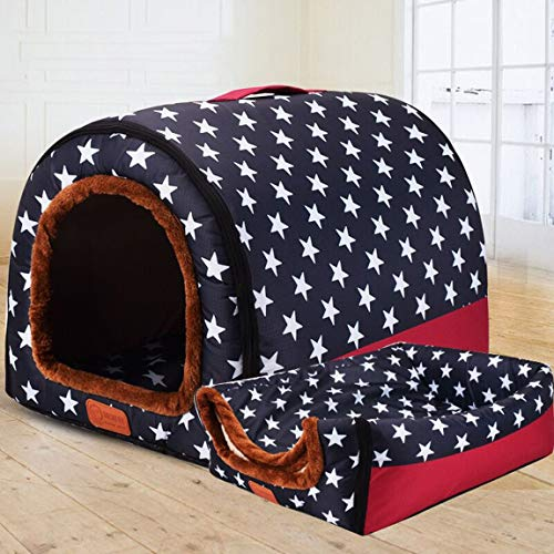 SeniorMar Fashion Arc House voll waschbare Tierhütte kleine mittlere und große Hunde tragbare Hundehütte Zwinger