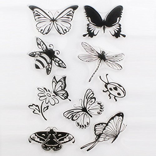 New Butterfly Style One Sheet Stamp For DIY Scrapbooking/Card Making/Decoration Supplies