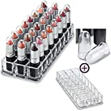 byAlegory (Gift Set) Acrylic Lipstick Organizer with MAC Brand Clear Replacement Caps To