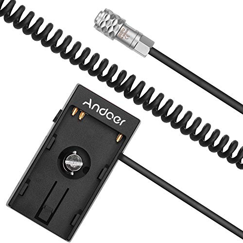 Andoer Kamera Akku Netzteil Mount Plate Adapter mit 1/4 Zoll Schraube für Blackmagic Cinema Pocket Kamera BMPCC 4K für Sony BP-U30 U60 U90 BP-U Akku