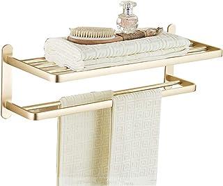 ZHAOHUI 浴室用ラック スペースアルミ 主催者 換気 通気性 カビ防止 きれいになること容易 パンチフリーインストール 2色 (色 : ゴールド)