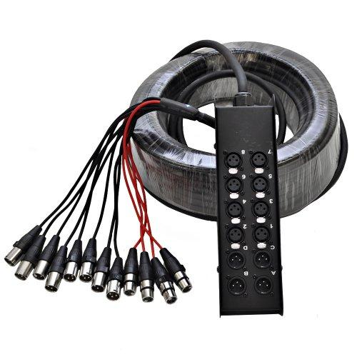Seismic Audio SACB-8x4x100 8-Channel XLR Low Profile Circuit Board Snake Cable, 100-Feet