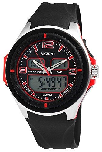 Reloj de Pulsera Akzent Cronómetro Cronógrafo Deportivo de Entrenamiento Gimnasio.