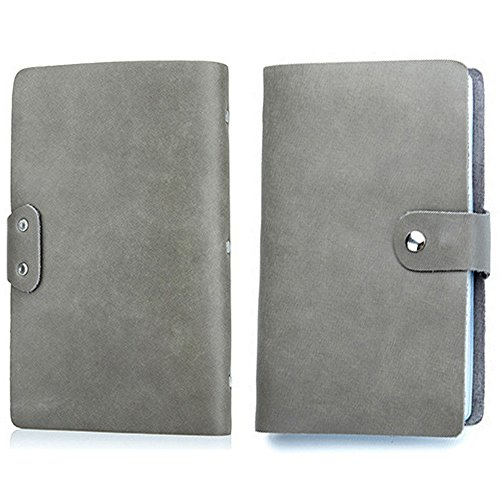 【THEBEST】カードケース 牛革 大容量 90枚収納 カードファイル 手帳型 マルチケース 名刺入れ カードケース 名刺入れ クレジットカードケース グレー