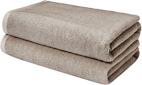 AmazonBasics Quick-Dry Bathroom Towels, Bath Sheet, Platinum