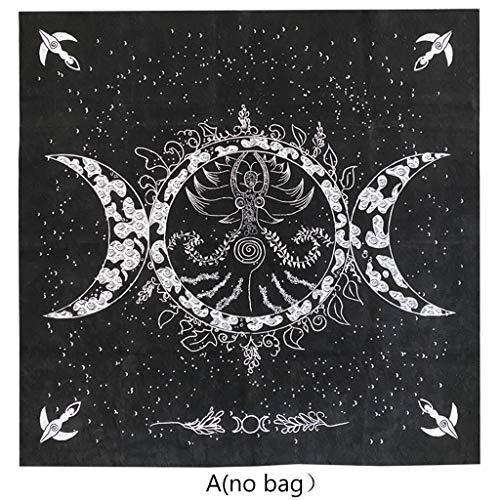 DALIN Altar Tarot Cloth Triple Goddess Moon Phases Astrology Tarot Tablecloth 19'×19'