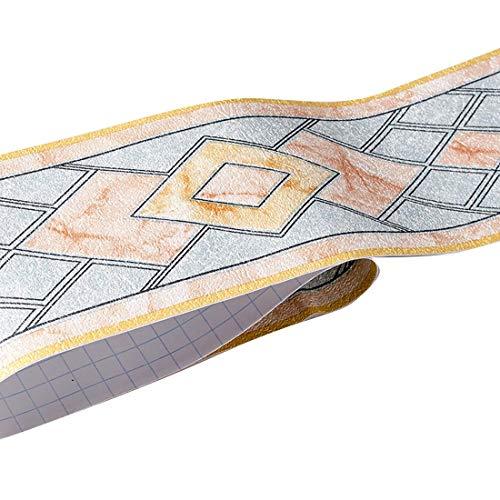 HBOS Moderne Geometrie Muster Tapete Bordüre Aufkleber Selbstklebende Entfernbar Zuhause Aufkleber Bordüren Dekoration für Küche Badezimmer Wohnzimmer Fliesen