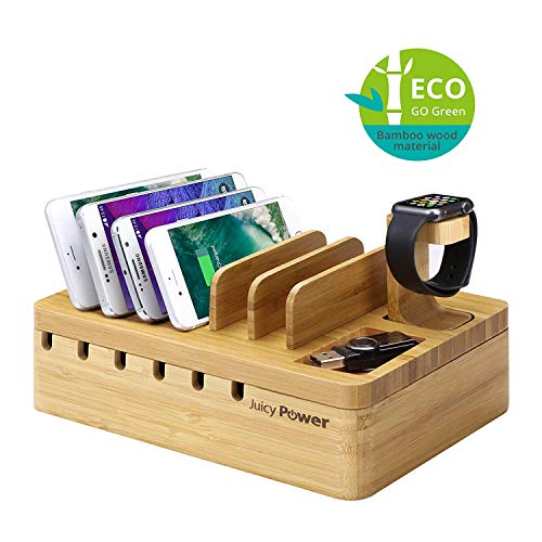 AVLT Bamboo Charging Station Multi Port...