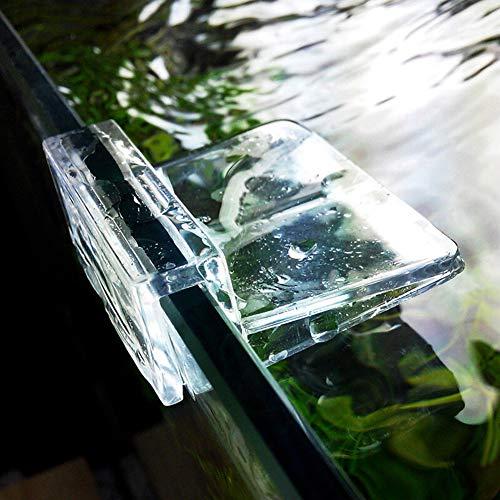 wiFndTu Aquarium-Abdeckungs-Clip, transparent, für Aquarien, 6 mm, 8 mm, 10 mm, 4 Stück