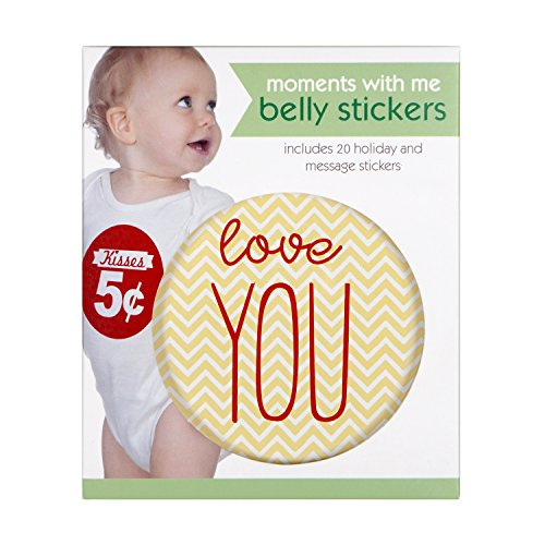C.R. Gibson First Year Belly Stickers, 20Milestone und Alter Aufkleber, für besondere Momente, jeder Aufkleber misst 11,4cm D–Girl