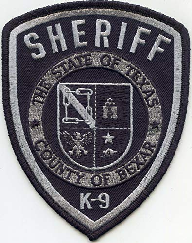 Embroidered Patch - Patches for Women Man - Bexar County Texas TX K-9 Sheriff Police