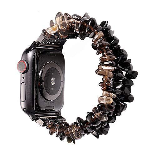 DXFFOK-UE Pulsera de Reloj de Apple for Las Bandas de 42 mm 44 mm Mujeres Natural Hecho a Mano de la Correa de Piedra reemplazo for la Serie de IWatch 5 4 3 2 1 40 mm 38 mm Correas de Reloj