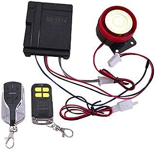 MAGONN - 12V Universal Motorcycle Car Alarm System 125db Burglar Alarm Ultra Small Dual Remote Control Anti-theft Device
