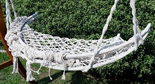 Hängesessel Hängelounger Doppellounger Lounge für 2 Personen Maui mit vielen Kissen klappbar inkl. Hollywoodschaukel - Gestell Aruba mit Dach von AS-S - 5