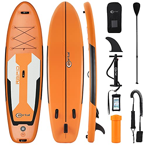 PORTAL Inflatable Stand Up Paddle Board, 10'x32 x6 Premium SUP Yoga Board with Accessories for Beginner