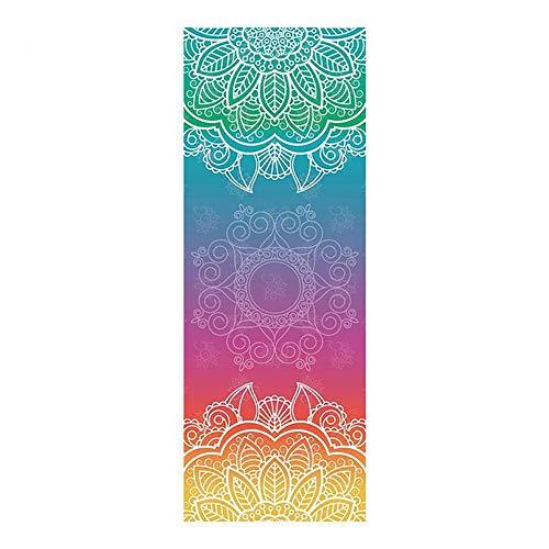 SIRUL Handtuch für Yogamatte, Extrafeine Faser Yoga Handtuch, rutschfest Reise Yogatuch, für Fitness, Reisen, Camping und Yoga, 183cm x 65cm,C