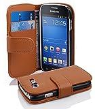 Cadorabo Coque pour Samsung Galaxy Trend Lite Noisette Marron Housse de Protection Etui Portefeuille Cover pour Trend Lite –...