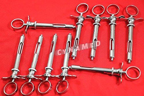 10 Premium Dental Anesthetic Syringe Self-Aspirating 1.8CC-Dental Instruments-A+ (CYNAMED)
