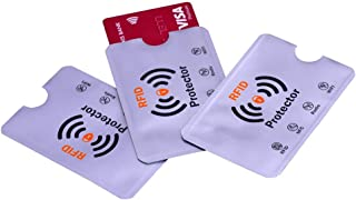 Geostat RFID Sleeves Credit Card Sleeve, Debit Card Sleeves, ATM Card Cover, Card Protector Sleeves Blocks Credit Cards White RFID Credit/Debit Card Sleeves (Pack of 3)