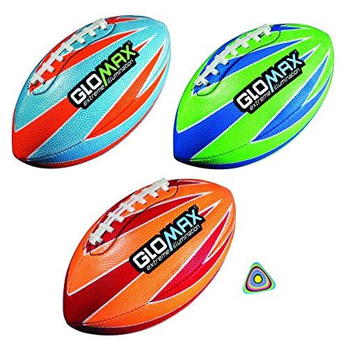 Shop Zoombie 1 Glow in The Dark Football GloMax Junior Football 8.5 Plus 1 Triangle Vortex Eraser