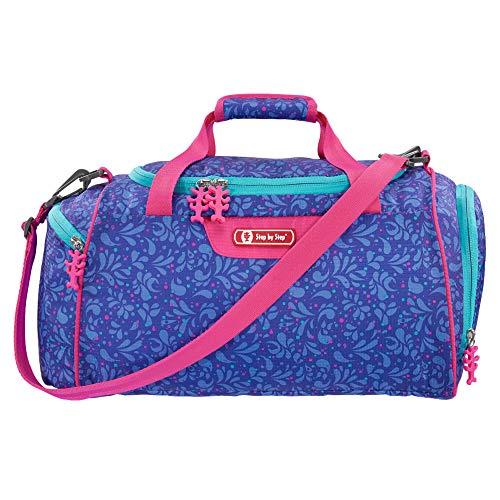 """Step by Step Sporttasche """"Happy Dolphins"""", blau/pink, mit Nasswäschefach, Abnehmbarer Tragegurt, Verstellbarer Schultergurt, für Mädchen 1. Klasse, 13L"""