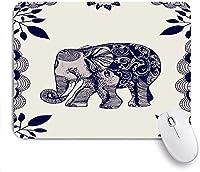 Mabby ゲームオフィスのマウスパッド,Elephant Mandala,Non-Slip Rubber Base Mousepad for Laptop Computer PC Office,Cute Design Desk Accessories